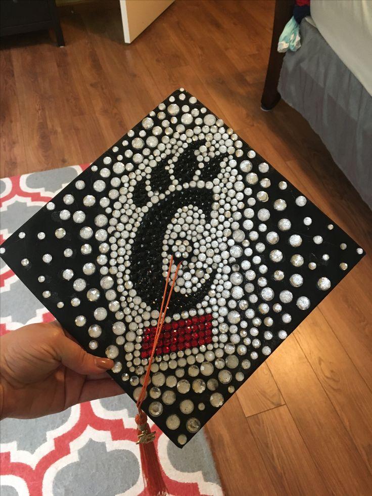 My DIY rhinestone University of Cincinnati graduation cap