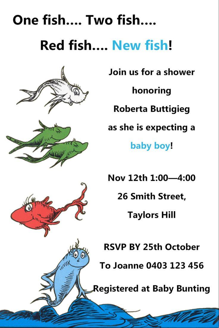 Dr Seuss Baby Shower Invitation - JPEG File by KleezPrints on Etsy