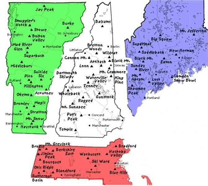 new hampshire ski mountains map maine ski resorts map ... on maine united states map, discovery ski resort trail map, maine atv trail map, maine county map with towns,