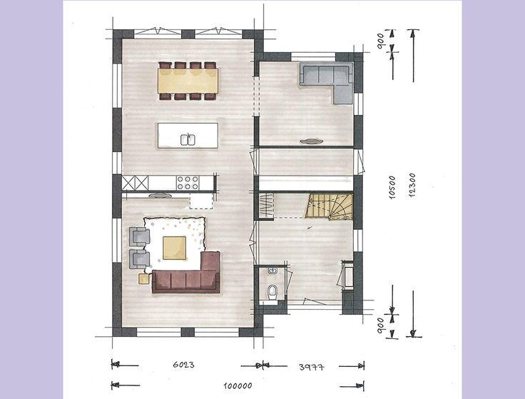 20 beste idee n over huis tekening op pinterest for Trap tekenen plattegrond