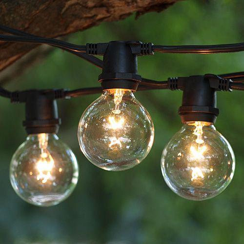 Zilotek String Lights : For the boat slip 100 ft Black Commercial C9 String Light with G50 Clear Bulbs, Order Online ...