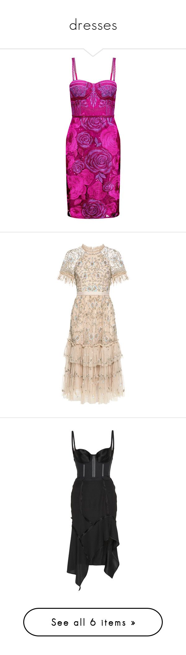 """dresses"" by daniellededwards ❤ liked on Polyvore featuring dresses, violet, metallic cocktail dress, embroidered dress, embellished dresses, embellished cocktail dresses, sequin cocktail dresses, long dresses, lace cocktail dress and evening cocktail dresses"