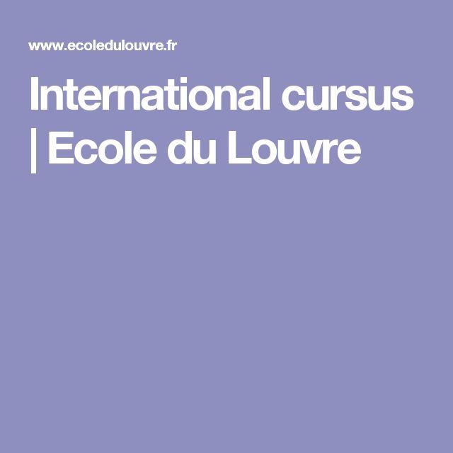 International cursus | Ecole du Louvre