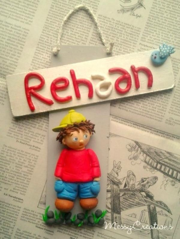 Customized handmade name plate, http://www.indiebazaar.com/product/16246/name-plate---just-me