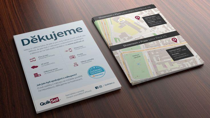 Karta děkujeme za nákup navržená pro QuikSet #apple #flyerdesign #flyer #leaflets