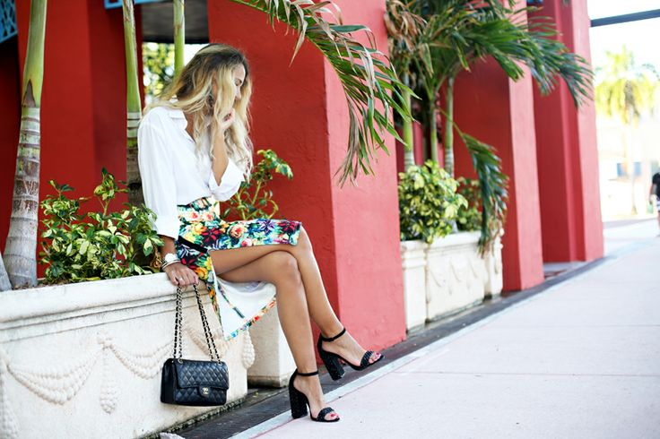 Glamgerous | A Floral Pencil Skirt