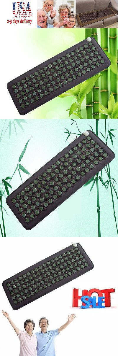 Massage Stones and Rocks: Natural Jade Tourmaline Stones Infrared Heating Mat Machine Health Care Us Ship -> BUY IT NOW ONLY: $99 on eBay!