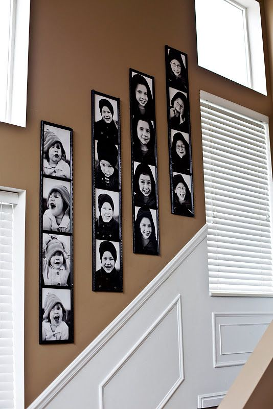 "DIY - ""Photobooth"" Wall Photos using 8"" x 10"" photos Tutorial."