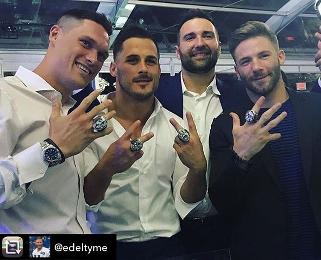 WEBSTA @ makeitfabulousevents - Chris Hogan, Danny Amendola, Rob Ninkovich and Julian Edelman --- Repost from @edeltyme using @RepostRegramApp - Family --- #NewEnglandPatriots #superbowlringceremony #Superbowl51 #SuperbowlChamps #Dynasty #GoPats #PatsNation