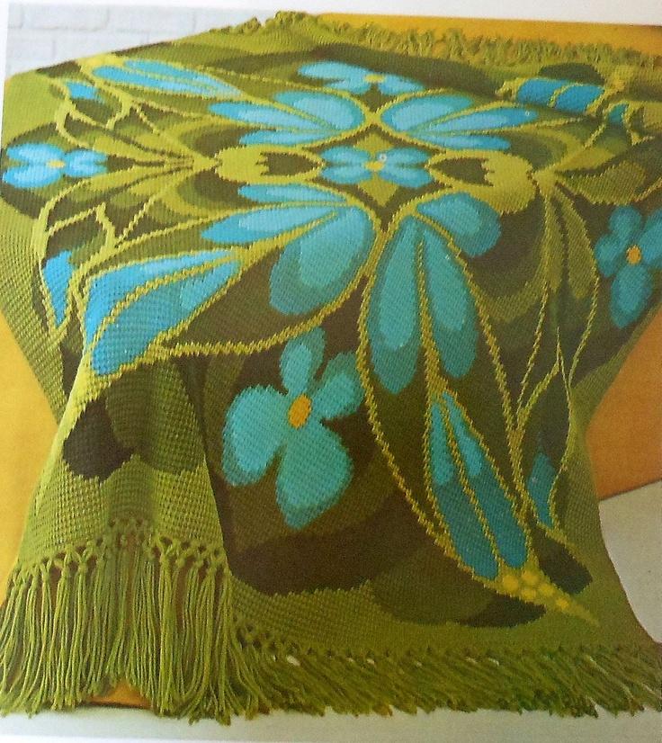Retro 70 S Butterfly Afghan Crochet Pattern Mod Afghan