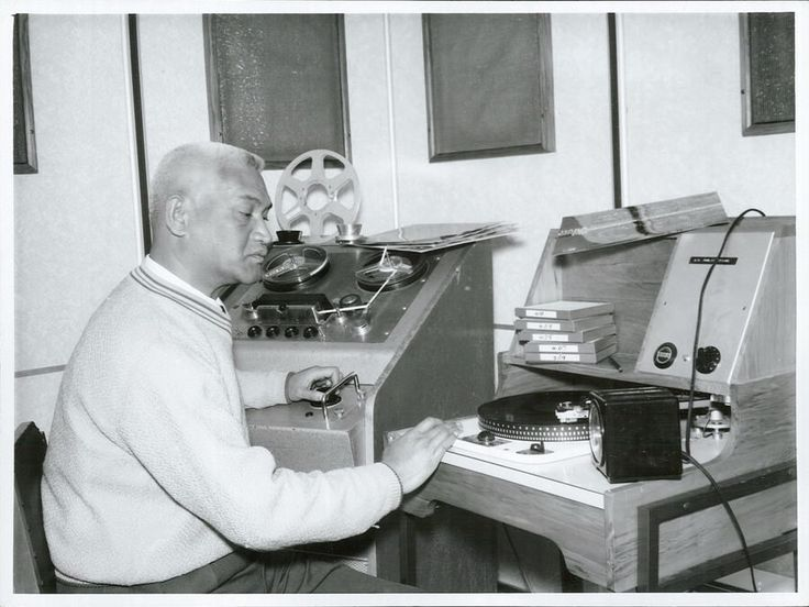 Mr Wiremu Kerekere of Te Aitanga-a-Mahaki Tribe of Gisborne, who is a technician and announcer in the New Zealand Broadcasting Service and who specialises in Māori programmes.   by Archives New Zealand