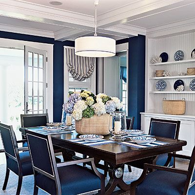 1000 ideas about navy dining rooms on pinterest dining for New england dining room ideas