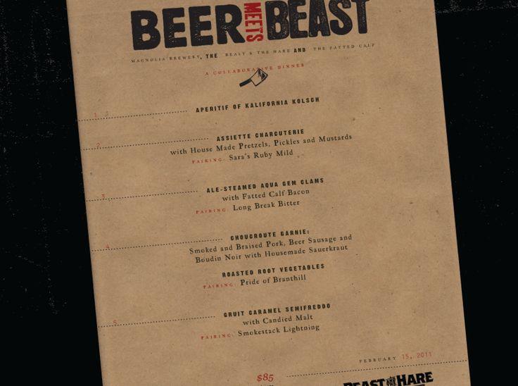16 best Menu Design images on Pinterest Menu design, Menu layout - beer menu