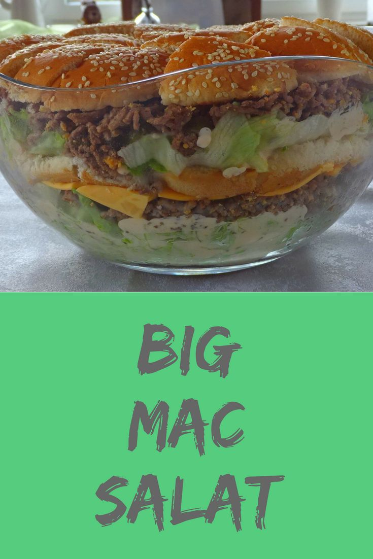 Big mac salad, delicious food, recipe, food, to grill and celebrate   – Familienblogger – Gruppenboard