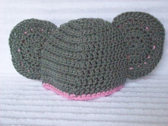 Baby Elephant hat newborn elephant beanie crochet elephant