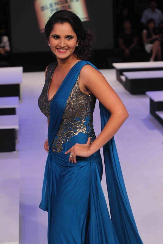 Sania Mirza Ramp Walk At Blenders Pride 2012