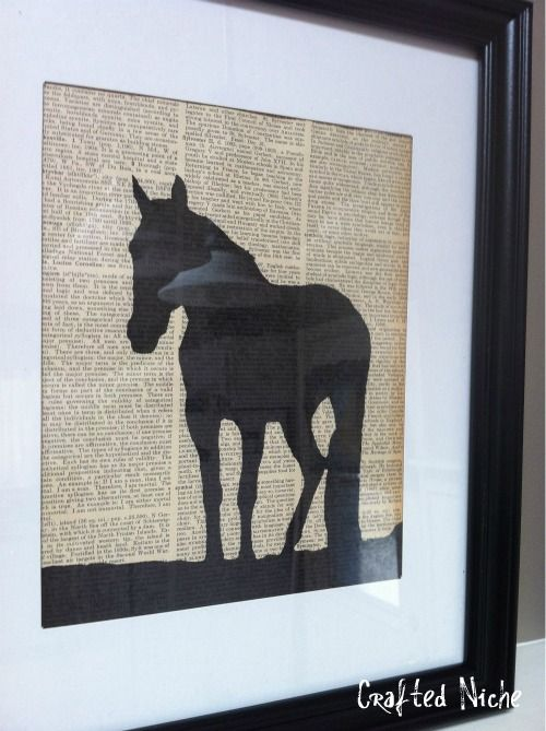 Silhouettes DIY, don't like the horse but like the craft idea!