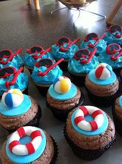 Swim Party Cupcakes