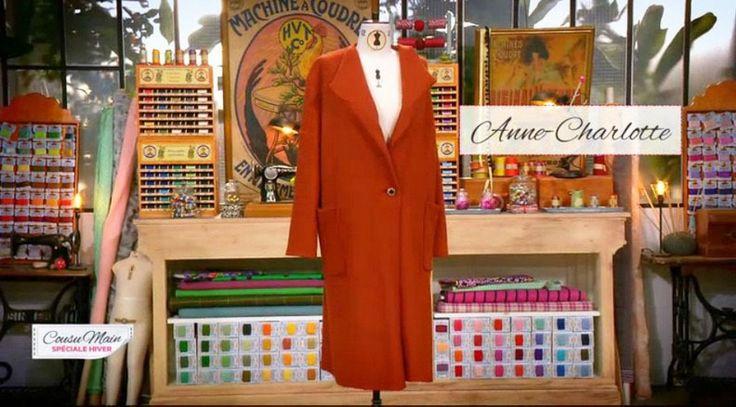 Cousu main 3 : manteau oversize femme