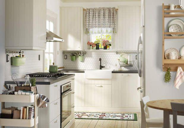 Cuisine Ikea : le modèle lambrissé version miniMETOD/HITTARP à partir de 399 €prix selon implantation typeChezIkea