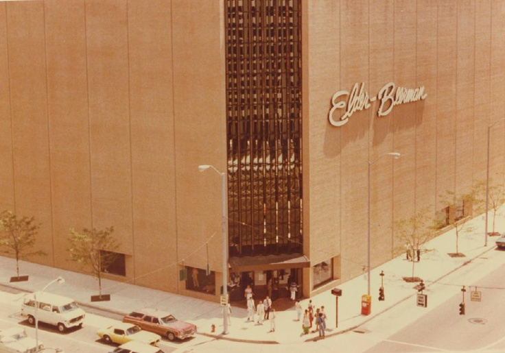 Elder-Beerman department store, downtown Dayton. I shopped here for Christmas and school clothes, often. And the smell of Amy's Cookies inside would hit you as you walked in the door.