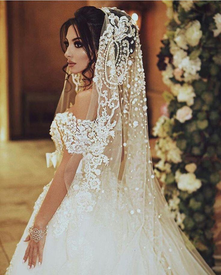 Quando os detalhes do véu e do vestido são maravilhosos