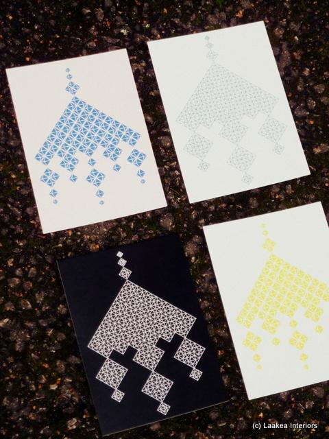 Himmeli christmas cards, Design Miia Jämsä, Laakea