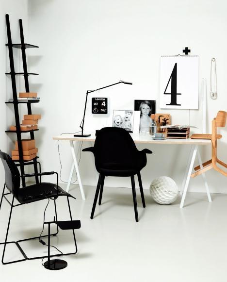 Skrivebord, interiør,