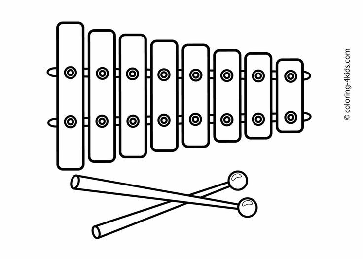 free music instrument coloring pages - photo#17