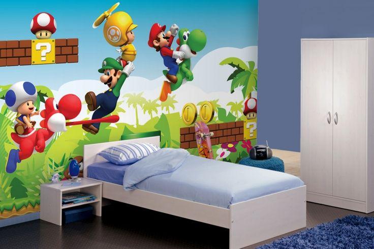 Mario Wallpaper Wallpaper Mario Wall Mural Kids