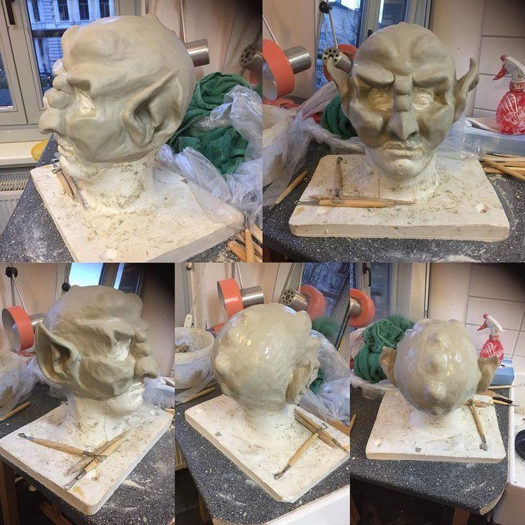 #mask #damon #horror #makeupartist #maskenbildner #theater #powderherface #slave #art #artist #modellieren #instagood #instadaily #fantasy #love #head #headless #ork #dämon #buffy #magdeburg #work #xoxo