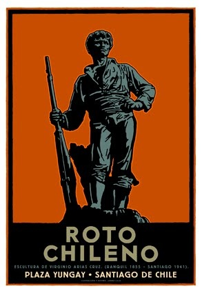 Fiesta del Roto Chileno barrio yungay  Santiago Chile - Enero 2013 - I grew up with the 'roto chileno' - in England, brought up by my abuelita Chilena.  'Roto' was common parlance in our house - still is.
