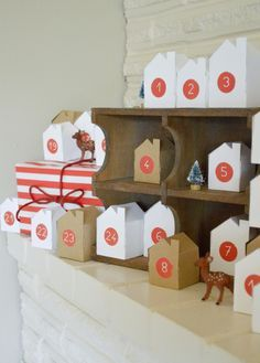 Handmade Christmas: Little Village Advent Calendar - Free PDF Printable of the houses.
