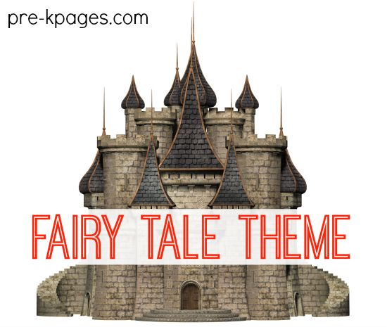 Fairy Tales theme. Activities, ideas, and printables for learning about fairy tales in your childcare, preschool, pre-k, or kindergarten classroom.