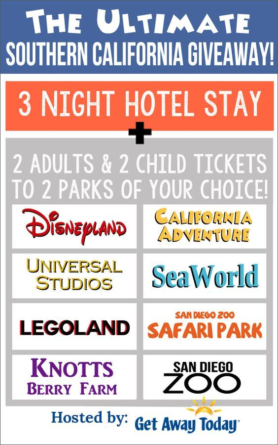 Giveaway Ideas| Southern California Vacation Package Giveaway - The Idea Room