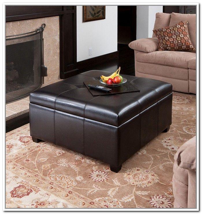 ikea concept leather ottoman coffee table