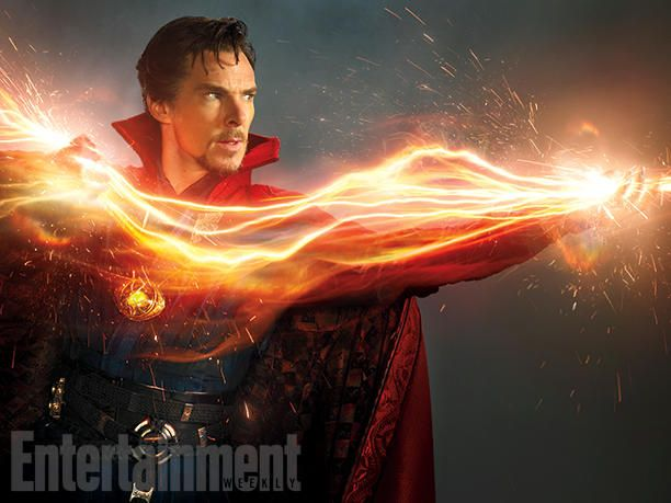 Benedict Cumberbatch como 'Doutor Estranho' nas imagens do filme