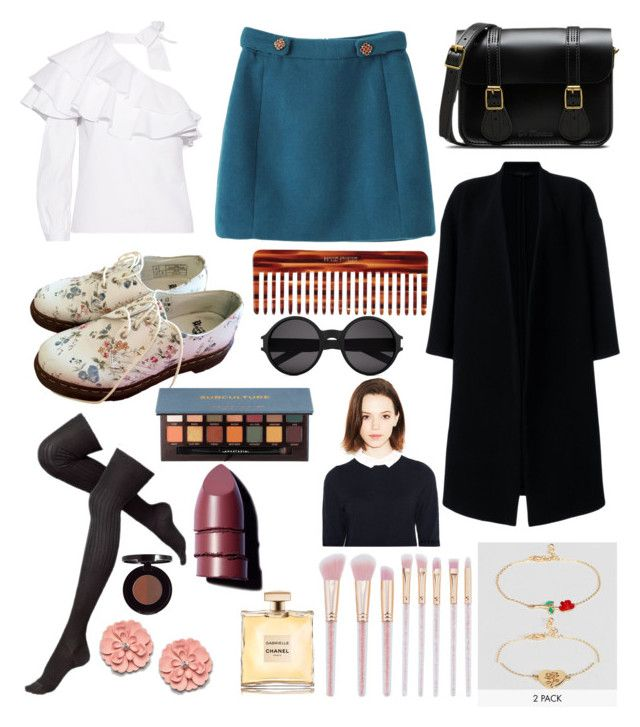 by amande-2006 on Polyvore featuring polyvore, fashion, style, Veronica Beard, Ter Et Bantine, Dr. Martens, ASOS, Yves Saint Laurent, Anastasia Beverly Hills, Chanel, Mason Pearson and clothing