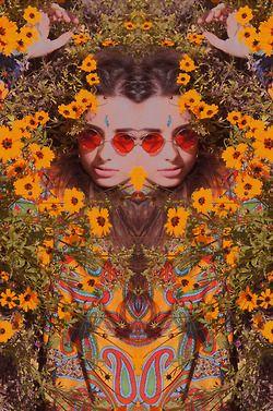 Psychedlic Hippie Flower Child #bohemianbeauty #johnnywas