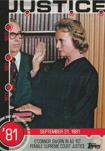 2015 Topps Baseball History #13A Sandra Day O'Connor sworn in