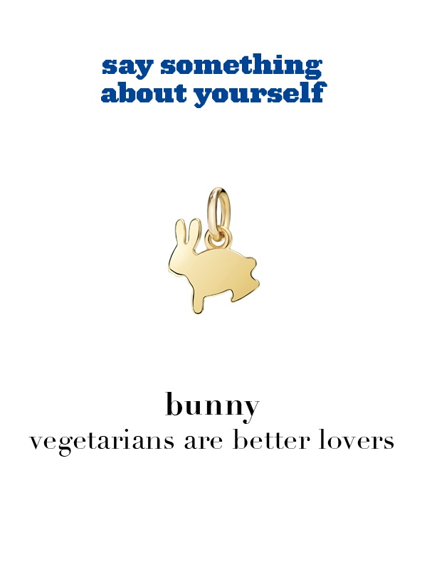 Dodo charm:  bunny - vegetarians are better lovers