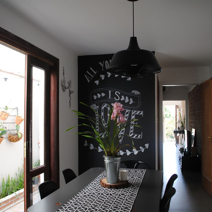 ANTESxDEPOIS! Passa o dedinho aí pra esquerda pra ver como era e como ficou a nossa sala de jantar. Atrás dessa parede de lousa está o lavabo, que não existia. A gente quebrou essa janelinha que existia aí e tacou uma porta balcão gigante que dá para o quintalzinho lateral. Olha quaaaanta luz natural ganhamos com isso! #saladejantar #antesedepois #beforeandafter #reforma #dinnerroom #parededelousa #chalkboard #chalkboardpaint #chalkboardwall #wallart #allyouneedislove #beatles #love…