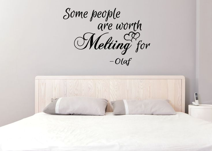 Some people are worth Melting for - Frozen Inspired Vinyl Wall Art Decal, Home Decor, Bedroom Decor, Olaf Quote, Frozen Vinyl Quote, Vinyl  by TheVinylCompany on Etsy