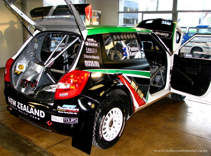 New Zealand rally driver, Hayden Paddon, was kind enough to drop round to show-off his Skoda rally car just before the Brother Rally. #rally #skoda