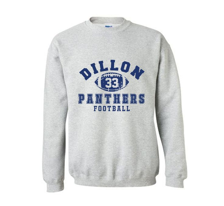Dillon Panthers 33 Night Lights Friday Football Sweat Shirts Long sleeves