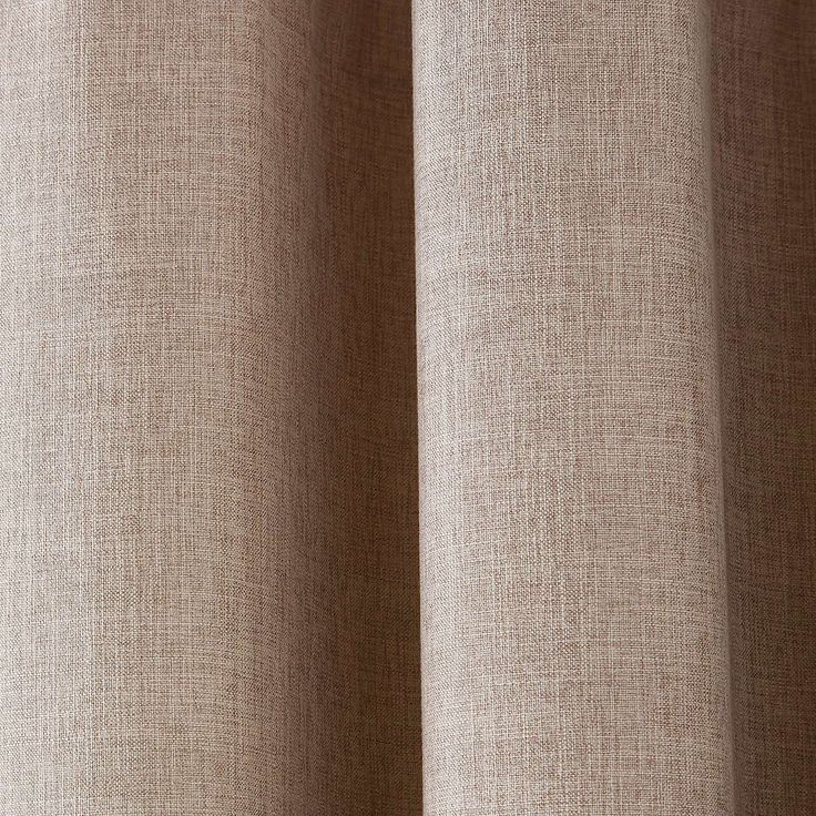 Vermont Natural Lined Eyelet Curtains | Dunelm