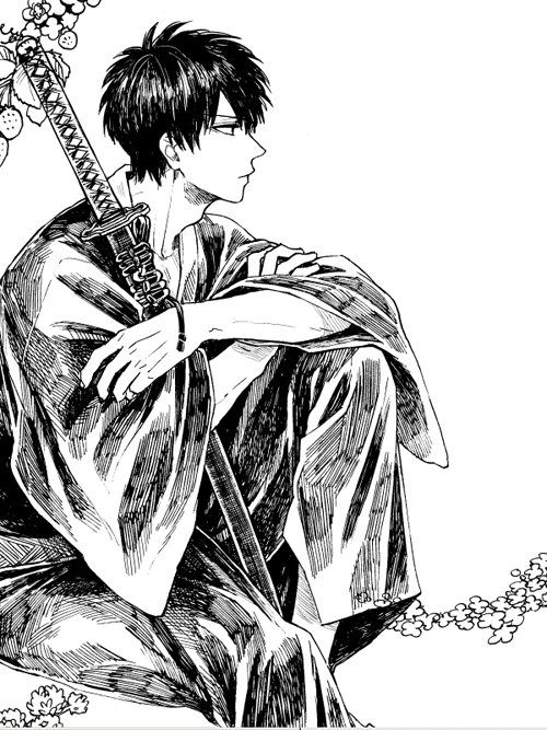 Hijikata Toushirou   Gintama   Artist: 灼▼春ア36b(@syaaa105)さん (Twitter)