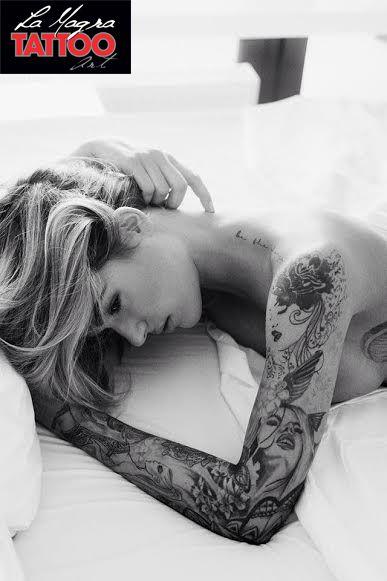 #woman #arm #tattoo #full #sleeve
