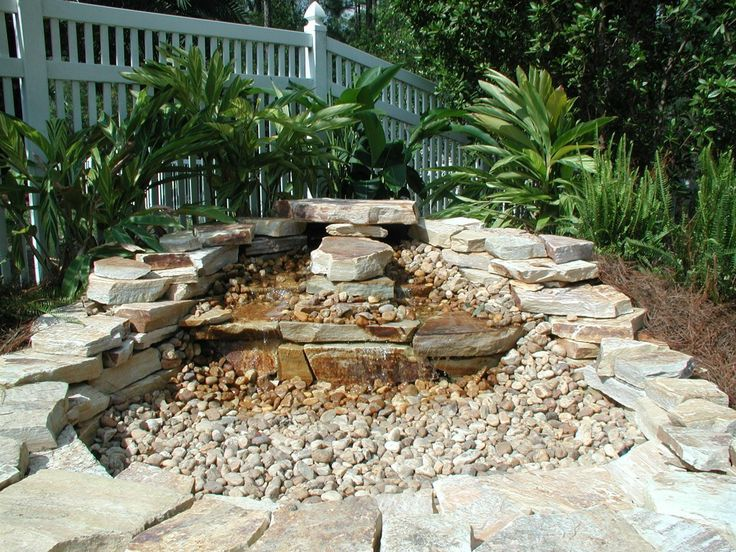 21 best images about rock water fall dry on pinterest for Landscaping rocks fort myers fl