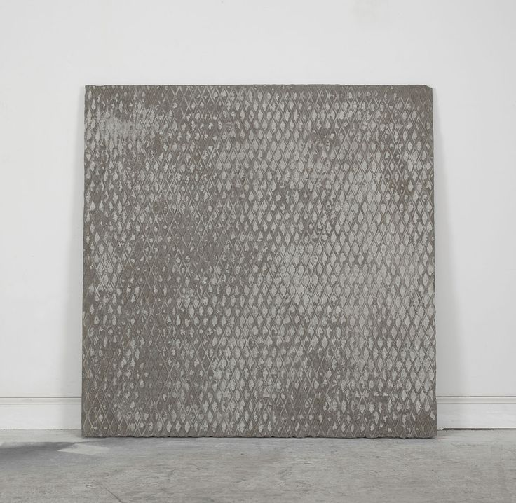 """Davina Semo [USA] (b 1981) ~ """"LONG STRETCHES OF INTOLERABLE BOREDOM PUNCTUATED BY SMALL CRISES OF DISGUST"""", 2011. Reinforced concrete (91.5 x 91.5 cm). 